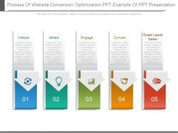 Process Of Website Conversion Optimization Ppt Example Of Ppt Presentation