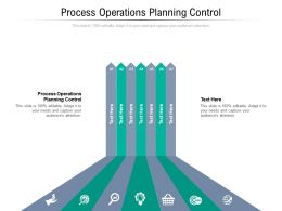 Process Operations Planning Control Ppt Powerpoint Presentation Professional Shapes Cpb