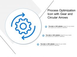Process Optimization Icon With Gear And Circular Arrows