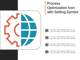 Process Optimization Icon With Setting Symbol