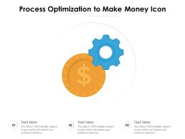 Process Optimization To Make Money Icon