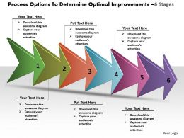 Process Options To Determine Optimal Improvements 6 Stages Proto Typing Powerpoint Templates