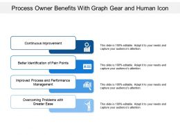 Process Owner Benefits With Graph Gear And Human Icon