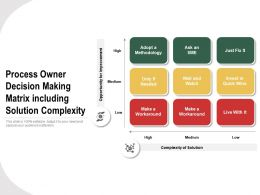 Process Owner Decision Making Matrix Including Solution Complexity