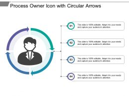 Process Owner Icon With Circular Arrows