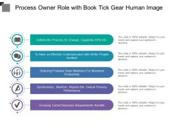 Process Owner Role With Book Tick Gear Human Image