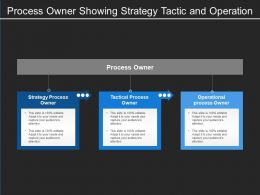 Process Owner Showing Strategy Tactic And Operation