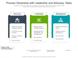 Process Ownership With Leadership And Advocacy Tasks