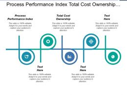 Process Performance Index Total Cost Ownership Customer Ratio