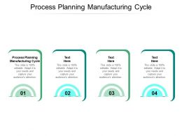 Process Planning Manufacturing Cycle Ppt Powerpoint Presentation Layouts Files Cpb