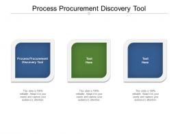 Process Procurement Discovery Tool Ppt Powerpoint Presentation Styles Structure Cpb