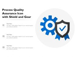 Process Quality Assurance Icon With Shield And Gear