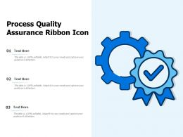 Process Quality Assurance Ribbon Icon