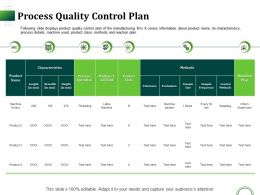 Process Quality Control Plan Ppt Infographic Template Information