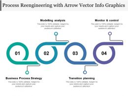 Process Re Engineering With Arrow Vector Info Graphics
