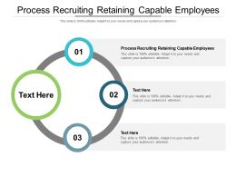 Process Recruiting Retaining Capable Employees Ppt Powerpoint Presentation Show Cpb