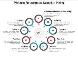 Process Recruitment Selection Hiring Ppt Powerpoint Presentation File Cpb