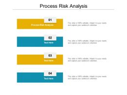 Process Risk Analysis Ppt Powerpoint Presentation Infographics Vector Cpb