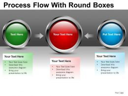 Process Round Boxes Powerpoint Presentation Slides DB