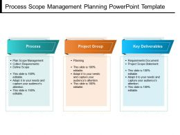 Process Scope Management Planning Powerpoint Template
