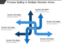 Process Spilling In Multiple Direction Arrow