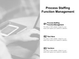 Process Staffing Function Management Ppt Powerpoint Presentation Icon Outline Cpb