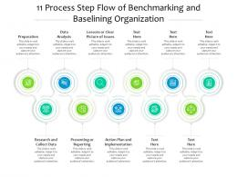 Process Step Flow Of Benchmarking And Baselining Organization