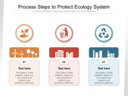 Process Steps To Protect Ecology System