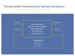Process System Framework For Delivery Excellence