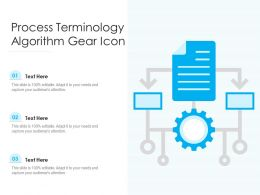 Process Terminology Algorithm Gear Icon