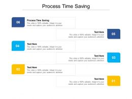 Process Time Saving Ppt Powerpoint Presentation Slides Guide Cpb