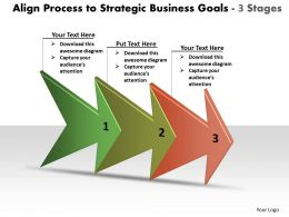 Process To Strategic Business Goals 3 Stages Workflow Management Powerpoint Templates