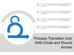 Process Transition Icon With Circle And Round Arrows