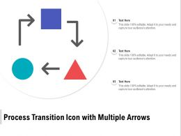 Process Transition Icon With Multiple Arrows