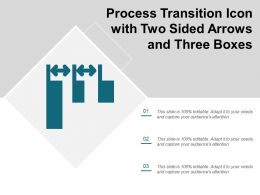 Process Transition Icon With Two Sided Arrows And Three Boxes