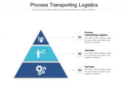 Process Transporting Logistics Ppt Powerpoint Presentation Portfolio Show Cpb