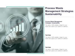 Process Waste Management Strategies Sustainability Ppt Powerpoint Presentation Professional Cpb