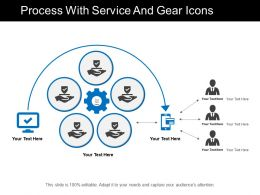 Process With Service And Gear Icons