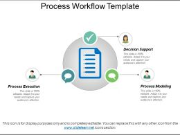 Process Workflow Template Sample Presentation Ppt