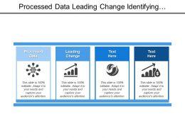 Processed Data Leading Change Identifying Program Adding Value