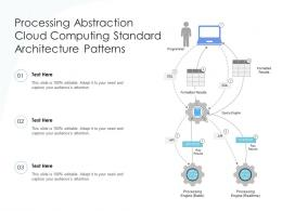 Processing Abstraction Computing Standard Architecture Patterns Ppt Powerpoint Slide