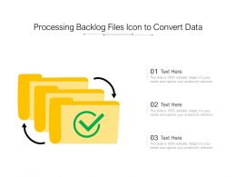Processing Backlog Files Icon To Convert Data