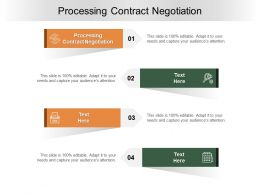 Processing Contract Negotiation Ppt Powerpoint Presentation Infographic Template Cpb