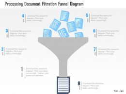 Processing Document Filtration Funnel Diagram Flat Powerpoint Design