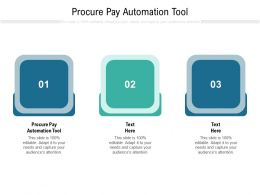 Procure Pay Automation Tool Ppt Powerpoint Presentation Infographic Template Shapes Cpb