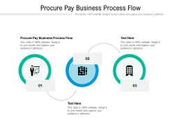 Procure Pay Business Process Flow Ppt Powerpoint Presentation Summary Show Cpb
