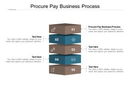 Procure Pay Business Process Ppt Powerpoint Presentation Layouts Structure Cpb