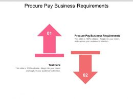 Procure Pay Business Requirements Ppt Powerpoint Presentation Inspiration Graphics Design Cpb