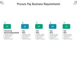 Procure Pay Business Requirements Ppt Powerpoint Presentation Slides Designs Download Cpb