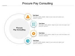 Procure Pay Consulting Ppt Powerpoint Presentation Portfolio Backgrounds Cpb